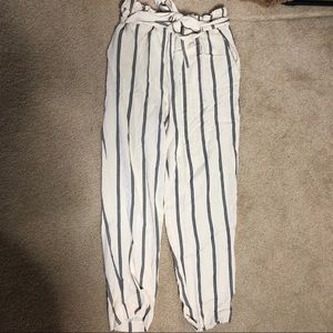 H&M stripped pants
